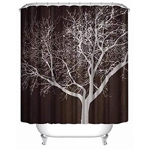 Xqy tenda divisoria del bagno della famiglia, tenda del bagno tenda di doccia classica del poliestere 3d tende dell'albero del cioccolato tenda di doccia impermeabile e muffa tenda di doccia del poli