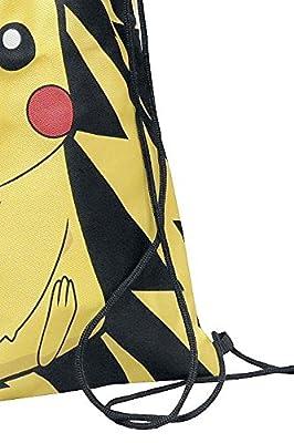 Pokemon Pikachu Bolsa de deporte negro/amarillo
