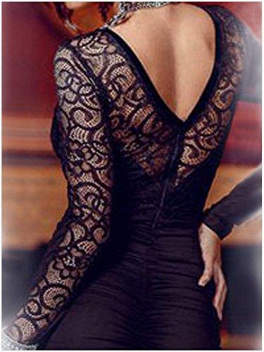 b18e757723ab Ovender® Vestiti Eleganti Corti Mini da Donna Ragazza Abito Vestito Donne  Ragazze Impero Formale Elegante Corto per Ballo Pizzo Party Cerimonia Festa  Sposa ...