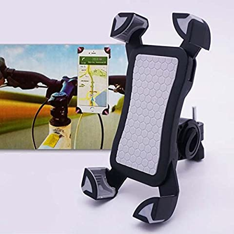 m-one for - Samsung Galaxy Core I8260 - Bike, Bicycle, Motorcycle & Scooter Smartphone Universal Bicycle Stand 360 Degree Rotating Mobile Phone Mount Holder (CAN BE USED WITH PHONE