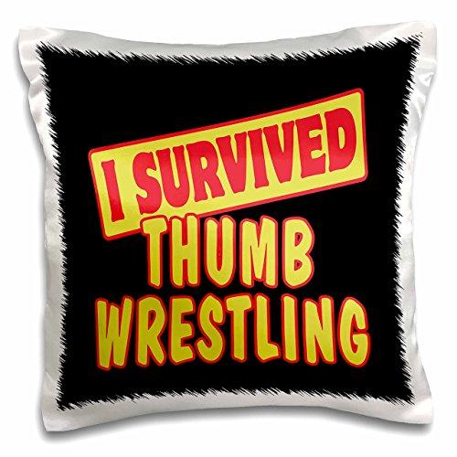 3dRose PC 118419_ 1Ich überlebte Daumen Wrestling Survial Stolz und Humor Design-Pillow Fall, 16von 40,6cm