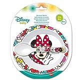 Elemed 45378 Kleinkind 2 Stück, Micro Set (Schüssel und Mikro Pp Löffel) Mit Minnie, mehrfarbig