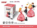 Jack Royal Tango Dancing Princess Doll and Boy with Music and Lights for Kids