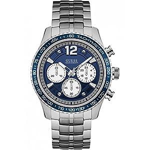 Guess Reloj Cronógrafo para Hombre de Cuarzo con Correa en Acero Inoxidable W0969G1