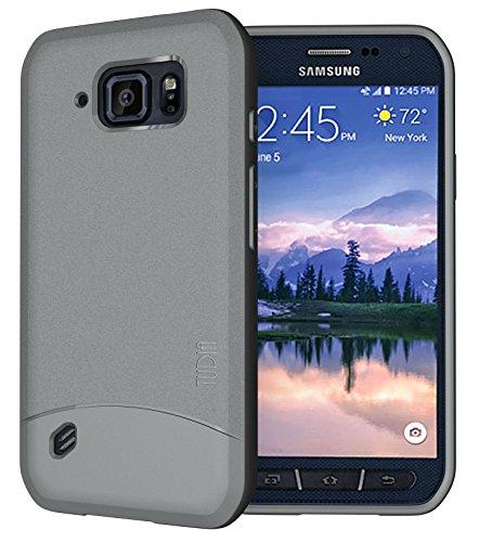 TUDIA Arch TPU Schutzhülle Samsung Galaxy S6 Active Ultra Slim Hülle (Grau)