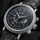 Relojes Hermosos, YAZOLE Hombre Reloj Casual Chino Cuarzo Calendario Reloj Casual PU Banda Moda Cool...