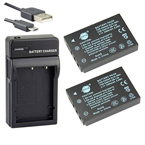 dste-klic-5001-li-ion-batteria-2-pacco-e-caricabatterie-usb-per-kodak-easyshare-p880-z730-z7590-z760