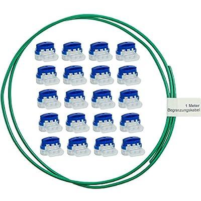 LoHaG - 20 Kabelverbinder in praktischer Box – Reparaturset – Ideal für Rasenmäher Mähroboter Rasenroboter Kabel Verbinder – Kabelklemmen Anschlussklemmen wasserdicht