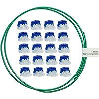 lohag–20cable conector en práctica caja + 1m cable delimitador para robot cortacésped Cortacésped–Set para reparación–Ideal para robot cortacésped Conector de cables–Cable pinzas bornes impermeable + Resistente a la intemperie