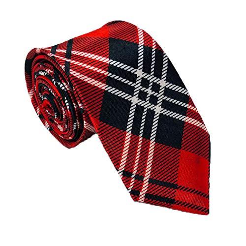 Tartan Neck Tie, Skinny Satin Ti...