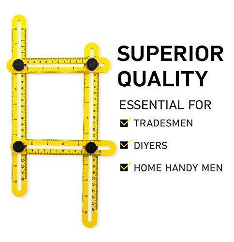 Woodruff Industries - Bessere Qualität Winkel-IZING Messwerkzeug von Woodruff Industries | Qualitäts- Template Marker -Tool für alle | Durable | Leicht zu straffen | Erstellen Sie professionelle Layouts und Marker für alle Oberflächen