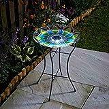 Smart Garden Vogeltränke aus Glas, handbemalt, 50 x 35 cm