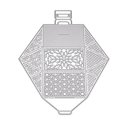 Diy scatola regalo metallo fustelle stencil scrapbooking goffratura carta cartoncino