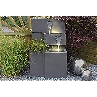 """Springbrunnen """"Grada"""" Bepflanzbar mit LED Beleuchtung, Wasserfall Gartenbrunnen Kaskade Terrassenbrunnen"""