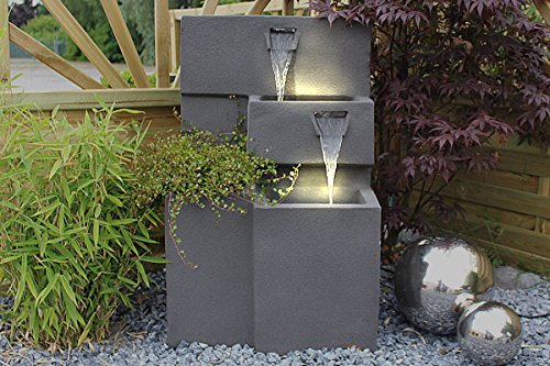 springbrunnen grada bepflanzbar mit led beleuchtung wasserfall gartenbrunnen kaskade. Black Bedroom Furniture Sets. Home Design Ideas