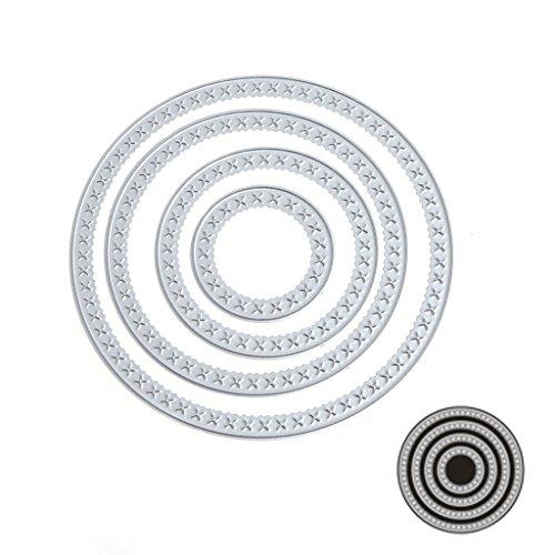 Nankod Stanzformen Schablonen Kreise Metall Scrapbook Album Prägekarte Papier Handwerk