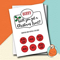 Personalised Rude Boyfriend Scratch Off Christmas Card