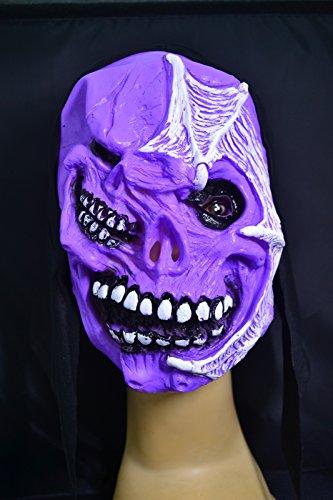 Smartfox Halloween Latex Maske - Zwei Gesichter