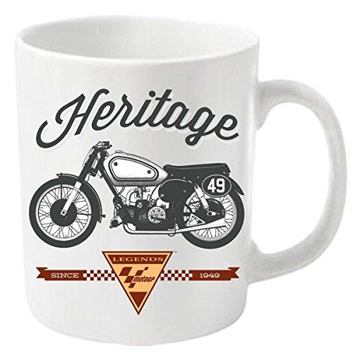 Plastic Head Moto GP Heritage 1 Taza, Blanco