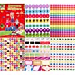 Anker Kids Create Arts and Crafts Reward Sticker Pad, Plastic, Assorted Colour, A4, Sheet of 10