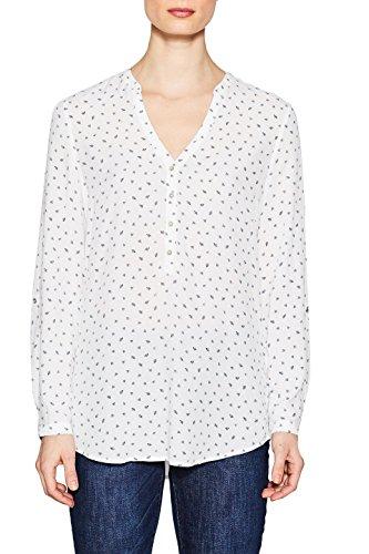 ESPRIT Damen 998EE1F801 Bluse, Weiß (Off White 110), 38