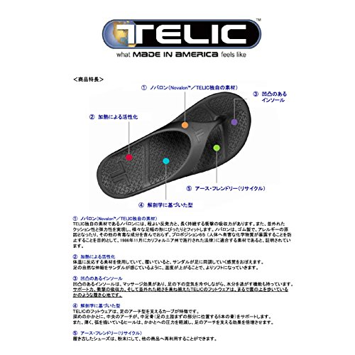 Telic Femme Slide Jelly Sandale noire de nuit