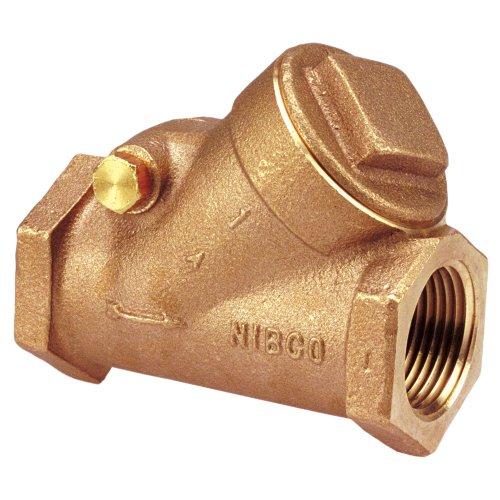 nibco t-433-y Cast Bronze-Rückschlagventil, Silent, kariert, Klasse 150, PTFE Sitz, 1/5,1cm weiblich NPT Gewinde (FIPT) -