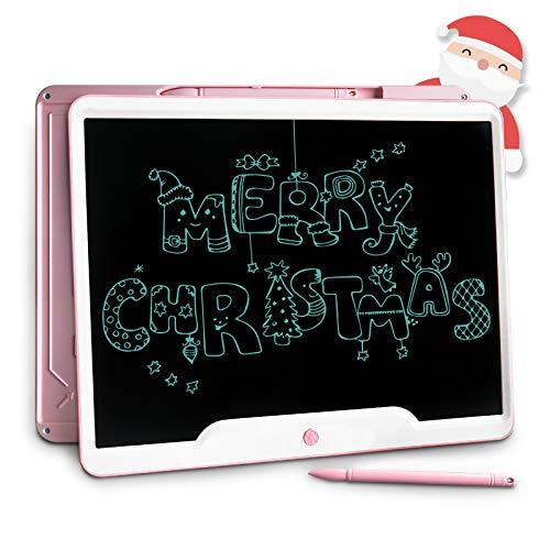 Richgv 15 Zoll LCD Writing Tablet mit Anti-Clearance Funktion und Stift, Digital Ewriter Grafiktabletts Schreibtafel Papierlos Notepad Doodle Board(Rosa)