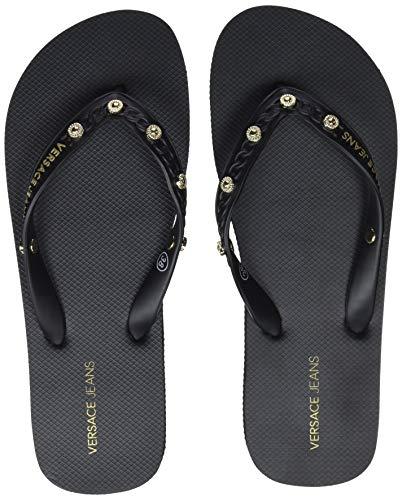 287f786680026a VERSACE JEANS COUTURE Women s Shoes Flip Flops Black (Nero 899) ...