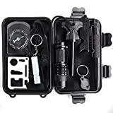 Unigear Selbsthilfe Box Outdoor Survival Kits Survival Set Notfall Selbsthilfe Set Werkzeuge Box für Outdoor Camping Wandern (10 in 1)