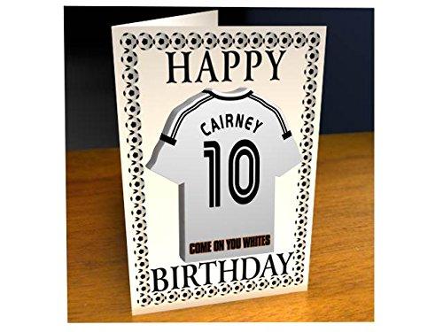 Geburtstagskarte, Design: Fußballverein / Sky Bet Championship, Acryl-Shirt-Design, personalisierbar Fulham FC Football Club Birthday Card