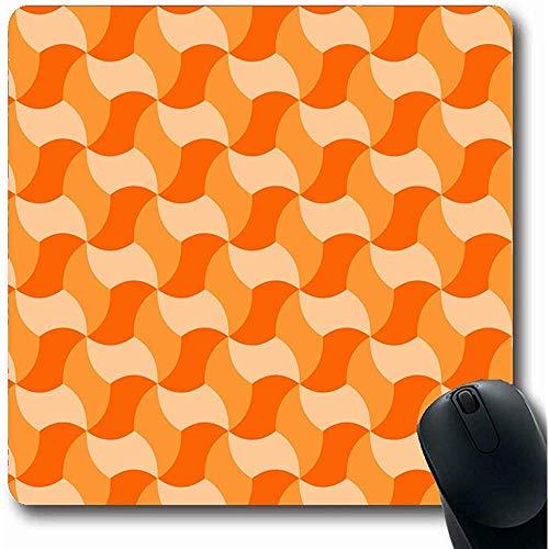 Mauspad Fliesen Braun Muster Geometrisch Fliesen Schatten Orange Abstrakt Gitter Modern Effekt Architektonisch Keramik Gaming Mauspad Rutschfeste Mauspads Computer 25X30cm