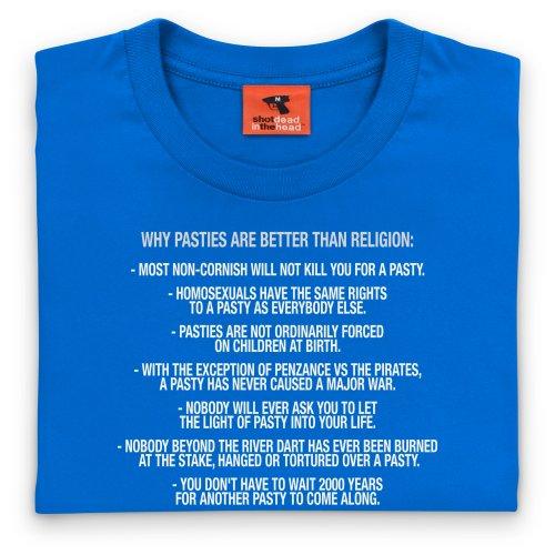 Pasties vs Religion T-shirt, Uomo Blu royal