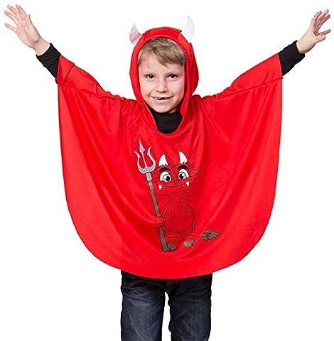Folat 63257 - Umhang Teufel Kind, STD (Amazon Halloween-kostüme Für Kinder)