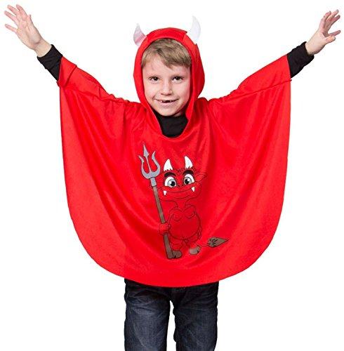 Folat 63257 Umhang Teufel Kind, STD Costume, One Size