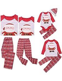 Weihnachts Schlafanzug Familie Set Mutter Kind Vater Pajama Langarm Print Schlafanzug Top Hose Set