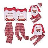 Weihnachts Schlafanzug Familie Set Mutter Kind Vater Pajama Langarm Print Schlafanzug Top Hose Set(Dad,Dad(L))