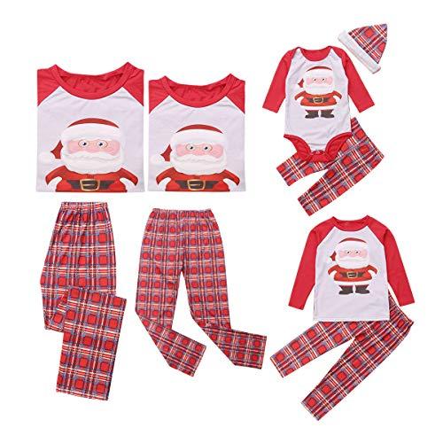 Familien Outfit Mutter Vater Kind Print Weihnachten Schlafanzug Kinder Pajama Set