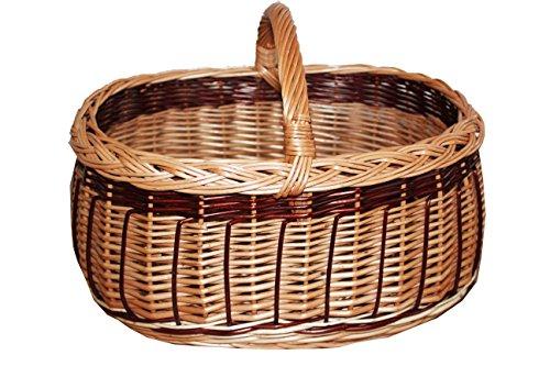 Preisvergleich Produktbild Chicer Weidenkorb Korb Einkaufskorb robust und handgeflochten