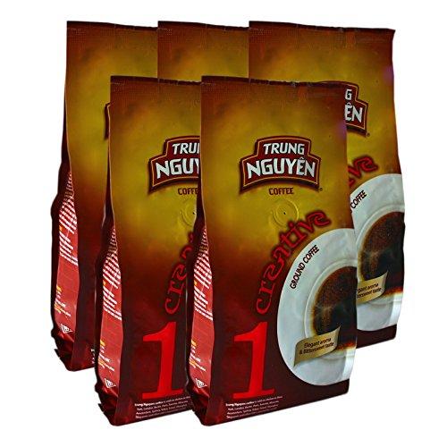 5x250g Trung Nguyen Creative 1 Vietnam Kaffee Robusta gemahlen (Kaffee Nguyen)