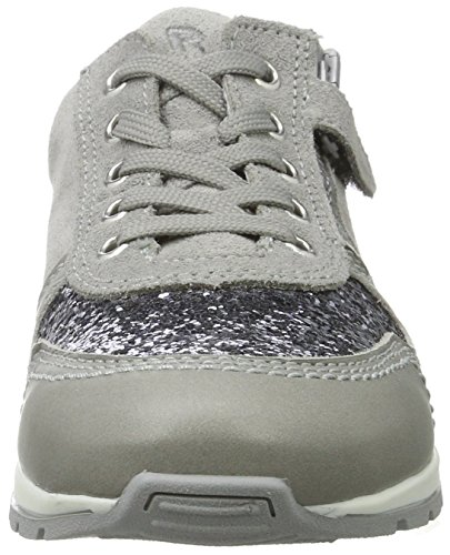 Richter Kinderschuhe Mädchen Volley Low-Top Grau (rock/pebble/silver)