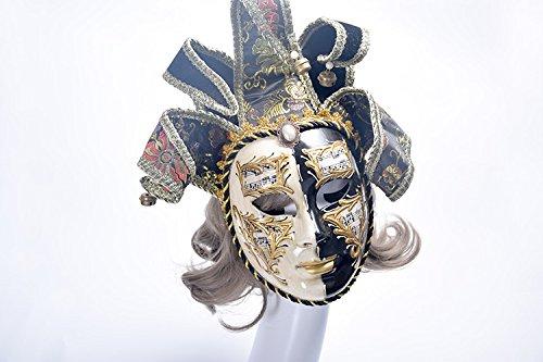K&C Venedig Halloween Kostüm Masquerade Masken Party Maske Schwarz