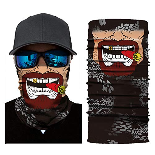Kkmoon cool robot skeleton maschere viso di halloween sciarpa joker fascia passamontagna per ciclismo pesca sci moto, foulard selvaggio stampa digitale 3d, ac225