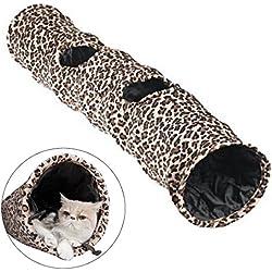 Dan velocidad Cat Túnel mejor gato juguete Figuras 2agujeros plegable ligero divertido juguete de gato túnel con bola colgando