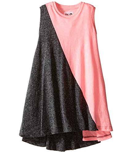 Nununu Mädchen Asymmetrischer Kleid Rosa/Grau 3-4 Jahre