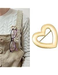 Portavasos Broche de lectura de vidrio sostenedor Simple diseño de moda broche de joyería