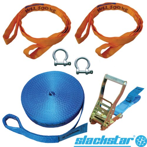 Slackstar SL82668-20, 6-tlg. Slackline Set