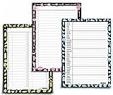 3er SPAR-SET NOTIZBLÖCKE: Wochenplan blanko + Einkaufsliste + To-do Liste von UKULELE® / 3x DIN A5 / jeweils 50 Blatt zum Abreißen/einsetzbar als Familienplaner - Mahlzeitenplaner - Putzplan