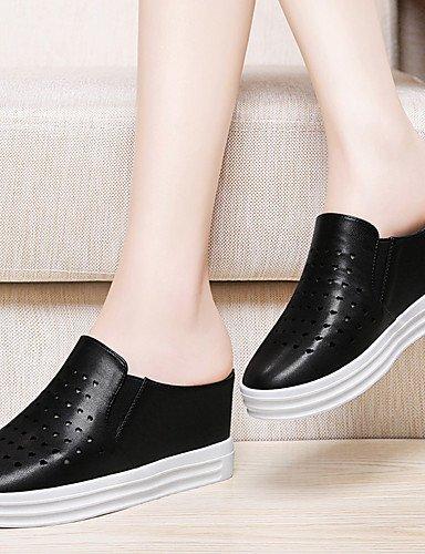 WSS 2016 Chaussures Femme-Bureau & Travail / Habillé / Décontracté / Soirée & Evénement-Noir / Blanc-Plateforme-Talons-Talons-Synthétique white-us5.5 / eu36 / uk3.5 / cn35