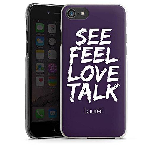 Apple iPhone X Silikon Hülle Case Schutzhülle Laurèl See Feel Love Sprüche Hard Case transparent
